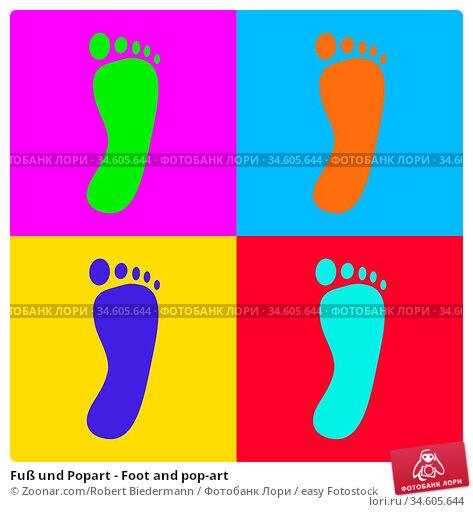 Fuß und Popart - Foot and pop-art. Стоковое фото, фотограф Zoonar.com/Robert Biedermann / easy Fotostock / Фотобанк Лори