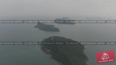 Купить «Funicular cable car on Phu Quoc Island to Hon Thom Pineapple Island in Vietnam», видеоролик № 32392016, снято 4 ноября 2019 г. (c) Aleksejs Bergmanis / Фотобанк Лори