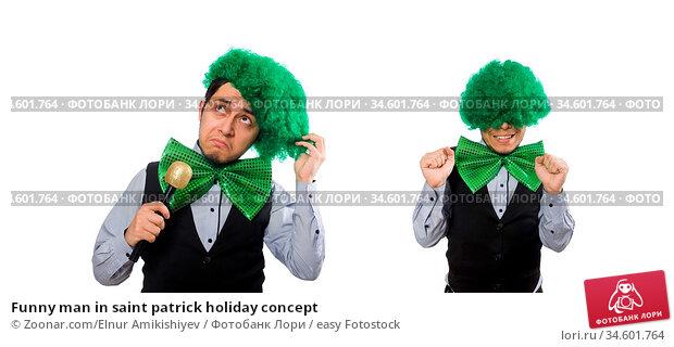 Funny man in saint patrick holiday concept. Стоковое фото, фотограф Zoonar.com/Elnur Amikishiyev / easy Fotostock / Фотобанк Лори