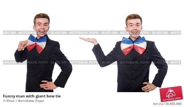 Funny man with giant bow tie. Стоковое фото, фотограф Elnur / Фотобанк Лори