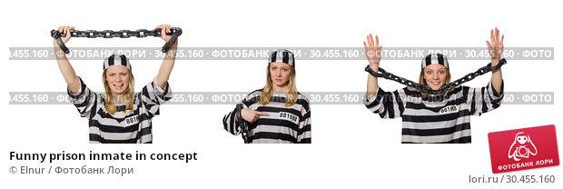 Funny prison inmate in concept. Стоковое фото, фотограф Elnur / Фотобанк Лори