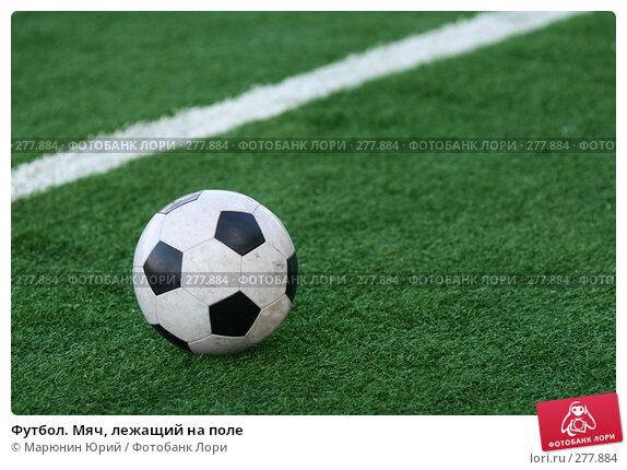 Футбол. Мяч, лежащий на поле, фото № 277884, снято 27 апреля 2008 г. (c) Марюнин Юрий / Фотобанк Лори