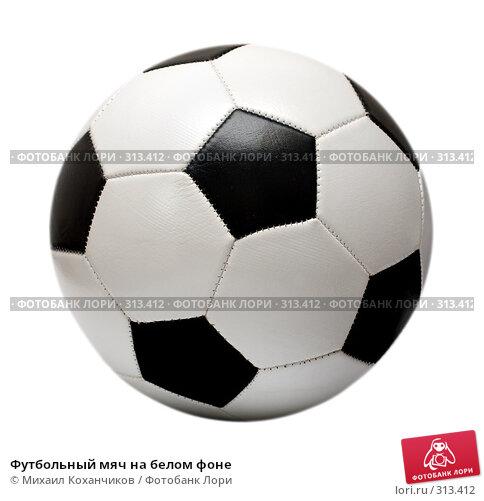 Футбольный мяч на белом фоне, фото № 313412, снято 30 марта 2008 г. (c) Михаил Коханчиков / Фотобанк Лори