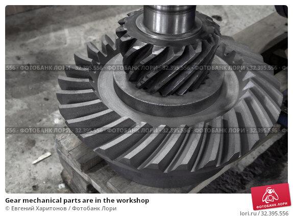 Купить «Gear mechanical parts are in the workshop», фото № 32395556, снято 23 октября 2019 г. (c) Евгений Харитонов / Фотобанк Лори