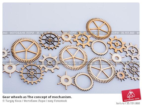 Gear wheels as The concept of mechanism. Стоковое фото, фотограф Turgay Koca / easy Fotostock / Фотобанк Лори