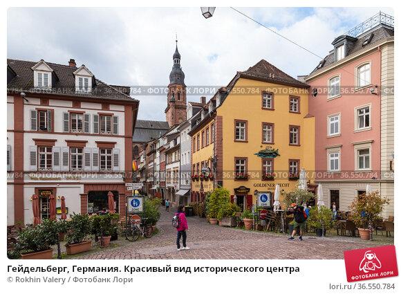 Гейдельберг, Германия. Красивый вид исторического центра (2017 год). Редакционное фото, фотограф Rokhin Valery / Фотобанк Лори