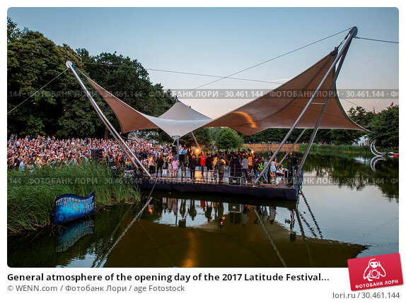 General atmosphere of the opening day of the 2017 Latitude Festival... Редакционное фото, фотограф WENN.com / age Fotostock / Фотобанк Лори