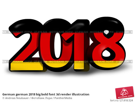 Купить «German german 2018 big bold font 3d render illustration», фото № 27818524, снято 21 октября 2018 г. (c) PantherMedia / Фотобанк Лори