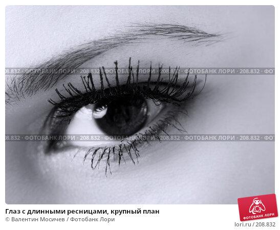 Глаз с длинными ресницами, крупный план, фото № 208832, снято 20 января 2008 г. (c) Валентин Мосичев / Фотобанк Лори