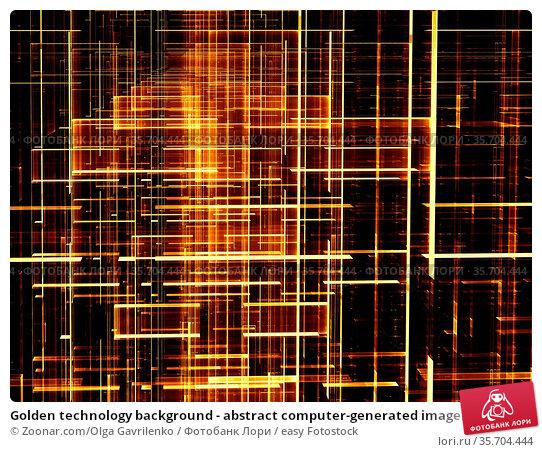 Golden technology background - abstract computer-generated image.... Стоковое фото, фотограф Zoonar.com/Olga Gavrilenko / easy Fotostock / Фотобанк Лори