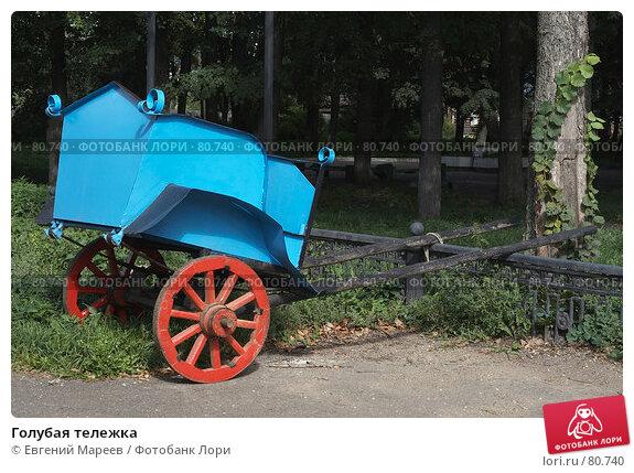 Купить «Голубая тележка», фото № 80740, снято 1 сентября 2007 г. (c) Евгений Мареев / Фотобанк Лори