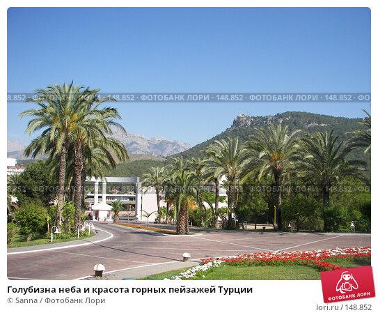 Голубизна неба и красота горных пейзажей Турции, фото № 148852, снято 16 мая 2007 г. (c) Sanna / Фотобанк Лори