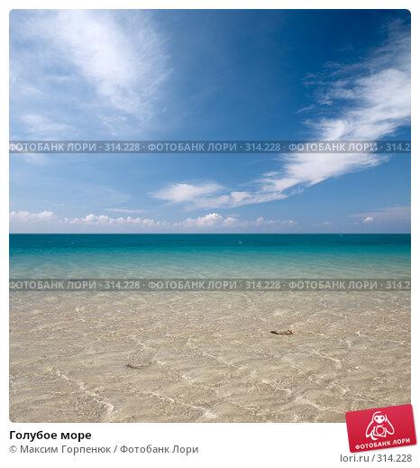 Голубое море, фото № 314228, снято 28 января 2008 г. (c) Максим Горпенюк / Фотобанк Лори