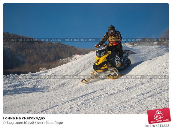 Купить «Гонка на снегоходах», фото № 213368, снято 20 января 2008 г. (c) Талдыкин Юрий / Фотобанк Лори