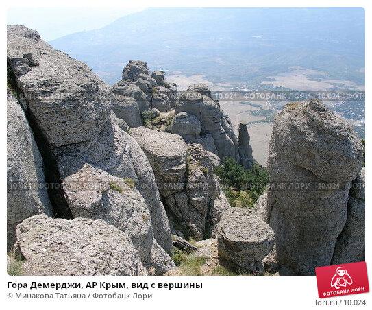 Гора Демерджи, АР Крым, вид с вершины, фото № 10024, снято 13 сентября 2005 г. (c) Минакова Татьяна / Фотобанк Лори