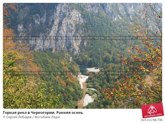 Горная река в Черногории. Ранняя осень, фото № 84736, снято 29 августа 2007 г. (c) Сергей Лебедев / Фотобанк Лори