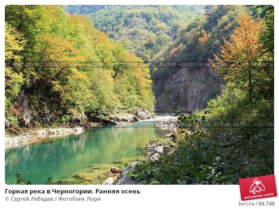 Горная река в Черногории. Ранняя осень, фото № 84748, снято 29 августа 2007 г. (c) Сергей Лебедев / Фотобанк Лори