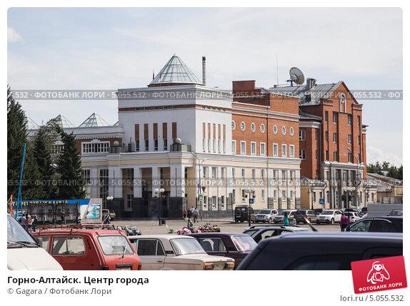 Купить «Горно-Алтайск. Центр города», эксклюзивное фото № 5055532, снято 27 августа 2013 г. (c) Gagara / Фотобанк Лори