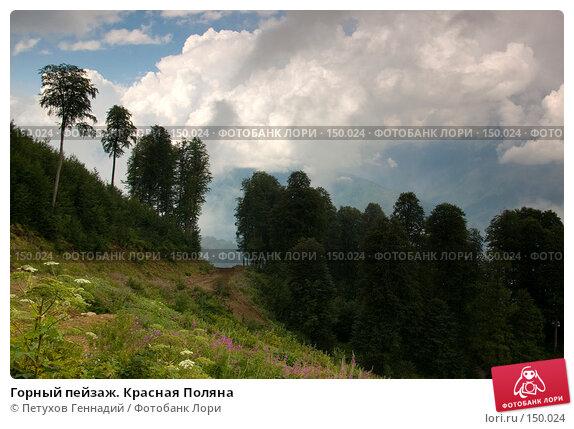 Купить «Горный пейзаж. Красная Поляна», фото № 150024, снято 16 августа 2007 г. (c) Петухов Геннадий / Фотобанк Лори
