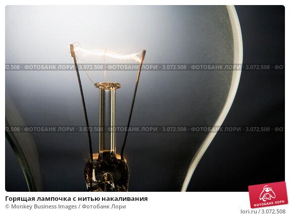Купить «Горящая лампочка с нитью накаливания», фото № 3072508, снято 5 декабря 2007 г. (c) Monkey Business Images / Фотобанк Лори