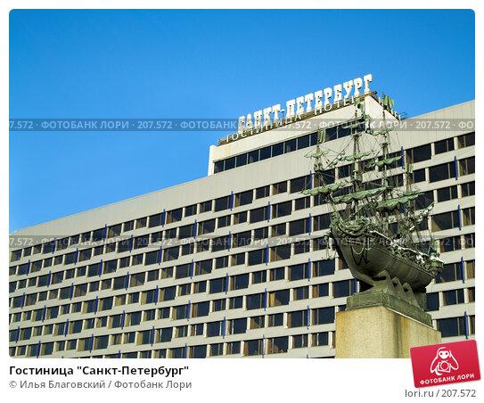"""Гостиница """"Санкт-Петербург"""", фото № 207572, снято 30 января 2007 г. (c) Илья Благовский / Фотобанк Лори"""