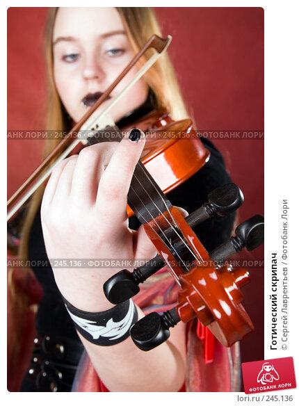 Готический скрипач, фото № 245136, снято 29 марта 2008 г. (c) Сергей Лаврентьев / Фотобанк Лори