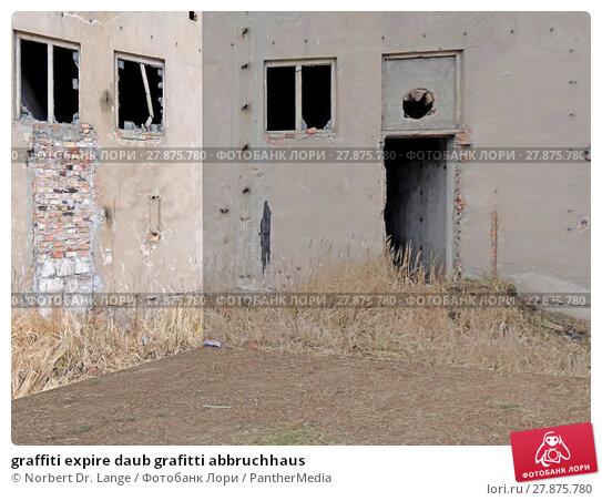 Купить «graffiti expire daub grafitti abbruchhaus», фото № 27875780, снято 22 февраля 2019 г. (c) PantherMedia / Фотобанк Лори