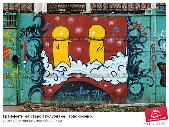 Купить «Граффити на старой голубятне. Новокосино.», фото № 114752, снято 11 ноября 2007 г. (c) Игорь Веснинов / Фотобанк Лори
