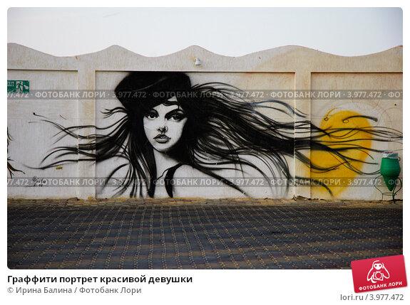 Купить «Граффити портрет красивой девушки», фото № 3977472, снято 22 октября 2012 г. (c) Ирина Балина / Фотобанк Лори