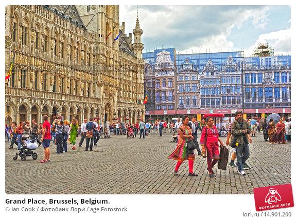 Купить «Grand Place, Brussels, Belgium.», фото № 14901200, снято 21 июня 2018 г. (c) age Fotostock / Фотобанк Лори