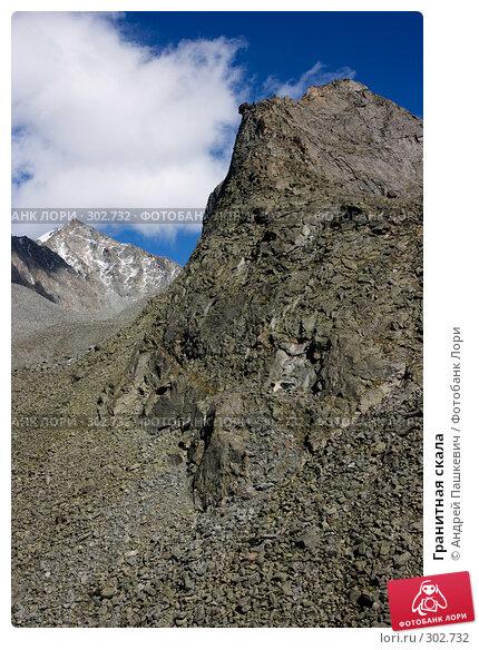 Гранитная скала, фото № 302732, снято 25 июля 2017 г. (c) Андрей Пашкевич / Фотобанк Лори