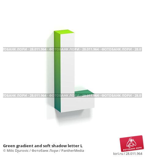 Купить «Green gradient and soft shadow letter L», фото № 28011964, снято 18 февраля 2019 г. (c) PantherMedia / Фотобанк Лори