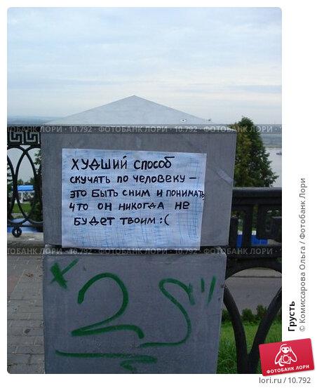 Купить «Грусть», фото № 10792, снято 26 августа 2006 г. (c) Комиссарова Ольга / Фотобанк Лори