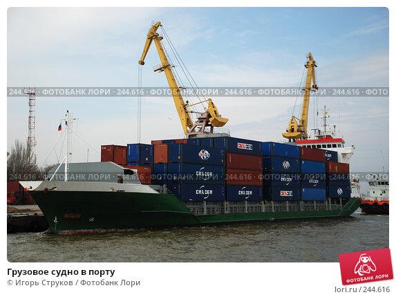 Грузовое судно в порту, фото № 244616, снято 7 апреля 2008 г. (c) Игорь Струков / Фотобанк Лори