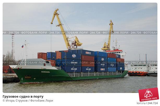 Грузовое судно в порту, фото № 244724, снято 7 апреля 2008 г. (c) Игорь Струков / Фотобанк Лори