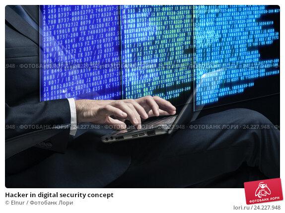 Hacker in digital security concept. Стоковое фото, фотограф Elnur / Фотобанк Лори
