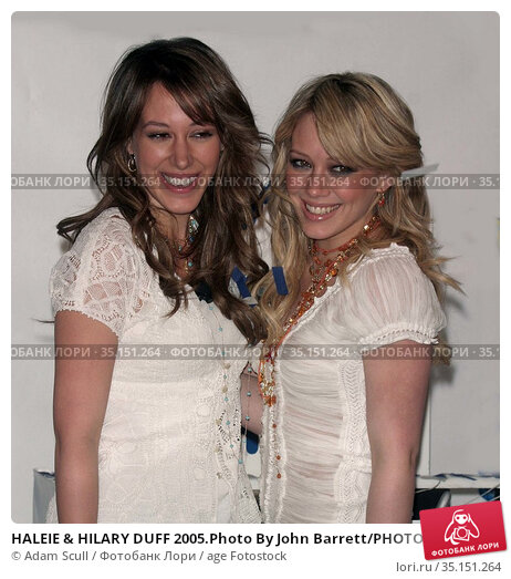 HALEIE & HILARY DUFF 2005.Photo By John Barrett/PHOTOlink.net.. Редакционное фото, фотограф Adam Scull / age Fotostock / Фотобанк Лори