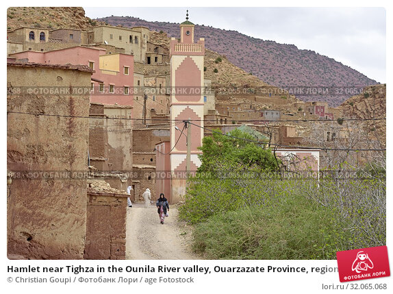 Hamlet near Tighza in the Ounila River valley, Ouarzazate Province, region of Draa-Tafilalet, Morocco, North West Africa. (2019 год). Редакционное фото, фотограф Christian Goupi / age Fotostock / Фотобанк Лори