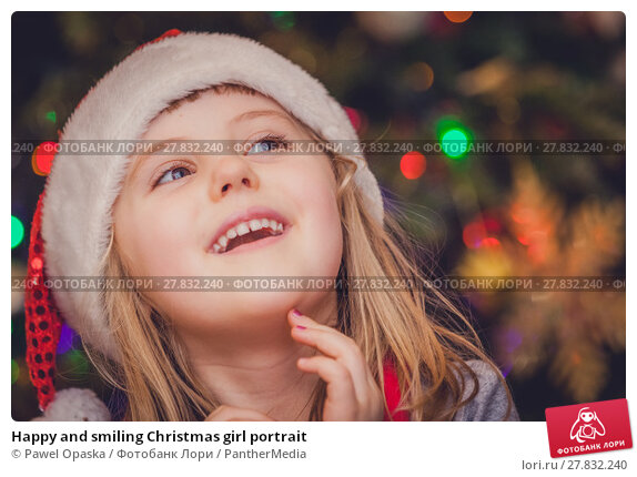 Купить «Happy and smiling Christmas girl portrait», фото № 27832240, снято 20 октября 2018 г. (c) PantherMedia / Фотобанк Лори