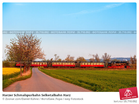 Harzer Schmalspurbahn Selketalbahn Harz. Стоковое фото, фотограф Zoonar.com/Daniel Kühne / easy Fotostock / Фотобанк Лори