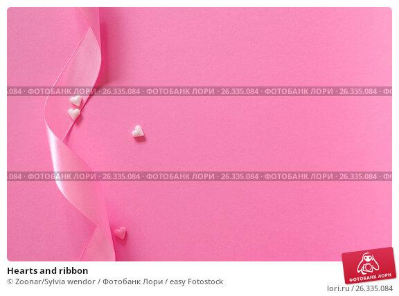Hearts and ribbon, фото № 26335084, снято 29 мая 2017 г. (c) easy Fotostock / Фотобанк Лори