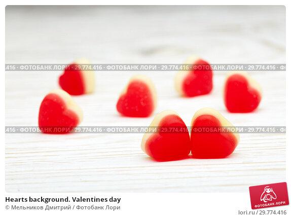Купить «Hearts background. Valentines day», фото № 29774416, снято 20 января 2019 г. (c) Мельников Дмитрий / Фотобанк Лори