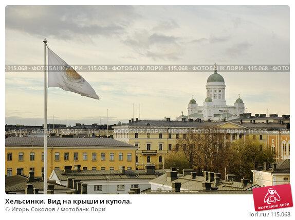 Хельсинки. Вид на крыши и купола., фото № 115068, снято 25 октября 2016 г. (c) Игорь Соколов / Фотобанк Лори