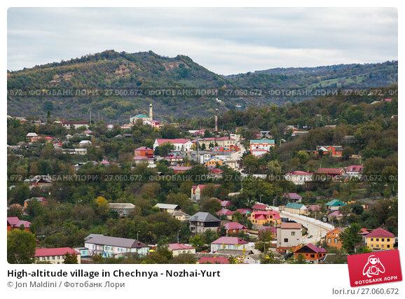 Купить «High-altitude village in Chechnya - Nozhai-Yurt», фото № 27060672, снято 18 октября 2016 г. (c) Jon Maldini / Фотобанк Лори