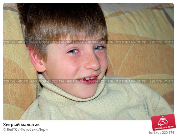 Хитрый мальчик, фото № 220176, снято 9 марта 2008 г. (c) RedTC / Фотобанк Лори