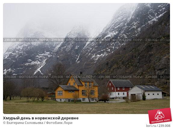 Купить «Хмурый день в норвежской деревне», фото № 239008, снято 13 марта 2008 г. (c) Екатерина Соловьева / Фотобанк Лори