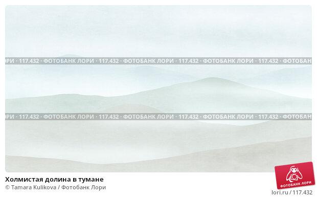 Холмистая долина в тумане, иллюстрация № 117432 (c) Tamara Kulikova / Фотобанк Лори