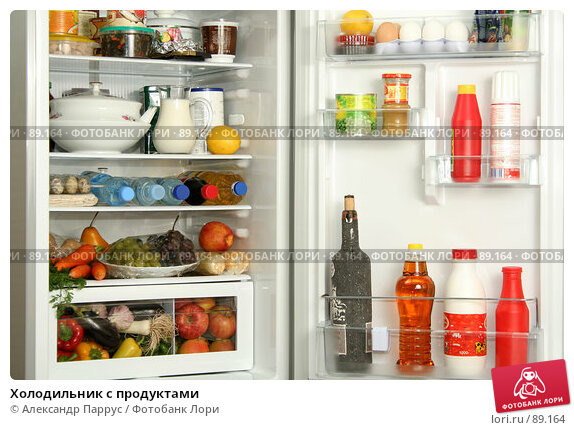 Холодильник с продуктами, фото № 89164, снято 26 сентября 2007 г. (c) Александр Паррус / Фотобанк Лори