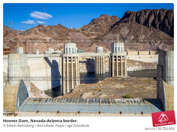 Hoover Dam, Nevada-Arizona border. Стоковое фото, фотограф Edwin Remsberg / age Fotostock / Фотобанк Лори