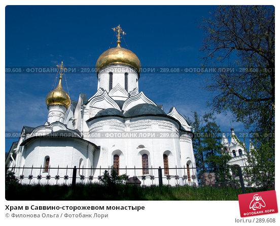 Храм в Саввино-сторожевом монастыре, фото № 289608, снято 9 мая 2008 г. (c) Филонова Ольга / Фотобанк Лори